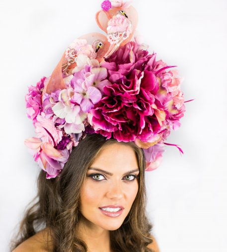 DEB-FANNING-MILLINERY-PINK-FLAMINGO-FLOWER-POWER-CROWN